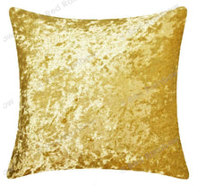 "Load image into Gallery viewer, Plain Luxury Crushed Velvet Cushion Cover - Piped Edges 18"" or 22"" ®Red Rainbow"