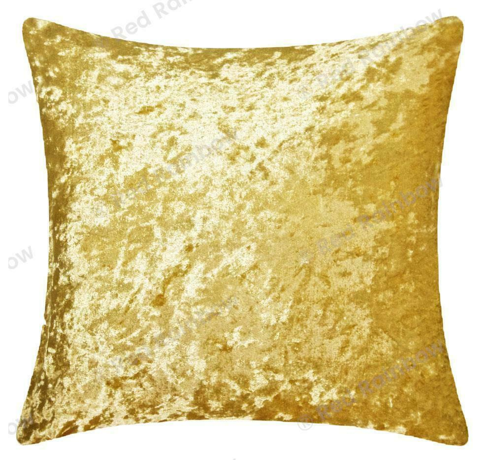 Plain Luxury Crushed Velvet Cushion Cover - Piped Edges 18