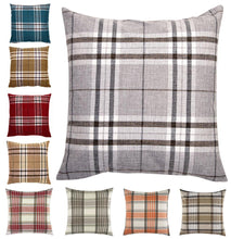 Load image into Gallery viewer, Tartan Check Cushion Cover Regular 18 inch ( 45 cm)  or Large 22 inch ( 55 cm )