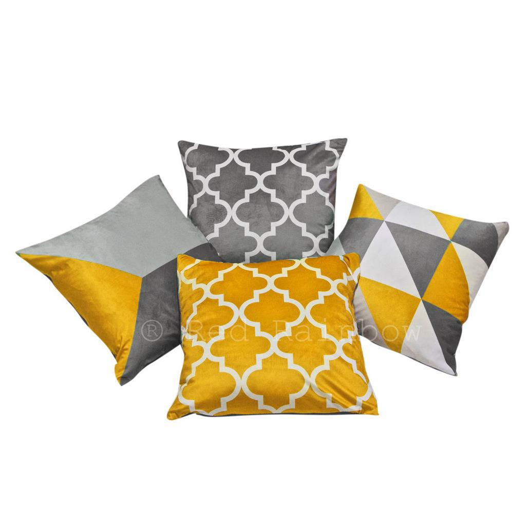 Collection of 4 Grey Geometric Design 18