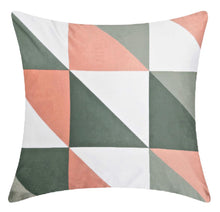 Load image into Gallery viewer, Blush Pink & Grey Geometric Cushion Cover 18 inch / 45 cm ® Red Rainbow