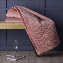 Load image into Gallery viewer, Geometric Quilted Mink Velvet Super Soft Bed Throw Blanket 150 cm x 200 cm
