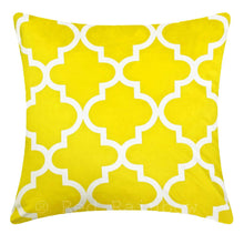 Load image into Gallery viewer, Yellow & Grey Geometric Cushion Cover 18 inch / 45 cm ® Red Rainbow
