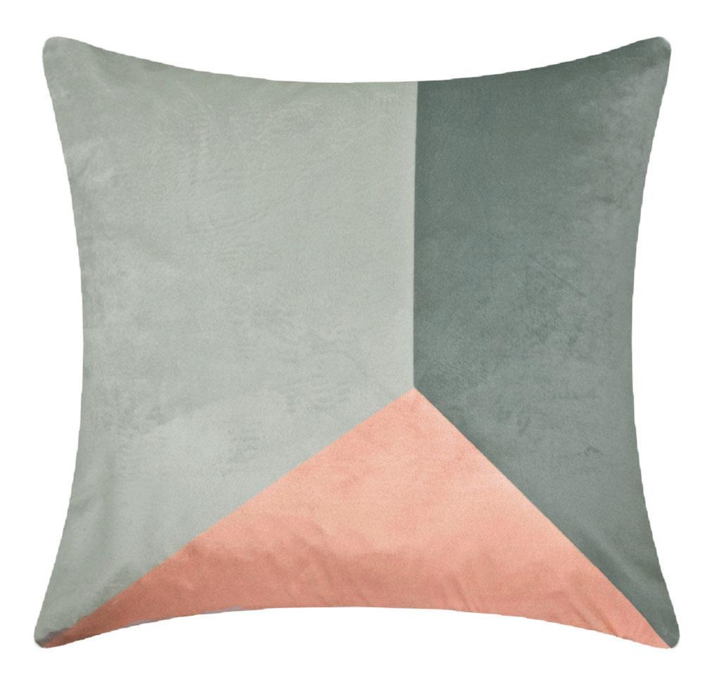 Blush Pink & Grey Geometric Cushion Cover 18 inch / 45 cm ® Red Rainbow