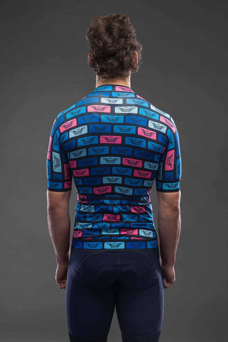 Till Death Blue Tiles Short Sleeve Race Jersey