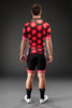 Red Butterfly Dot Road Suit