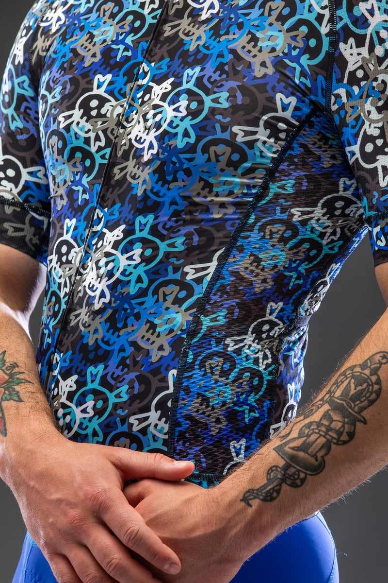 Busy Death Awaits Blue Short Sleeve Jersey