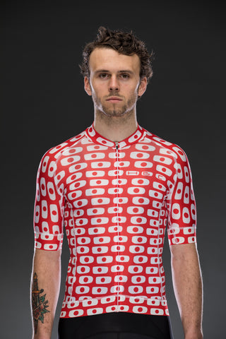 Odd Dots Red Race Jersey