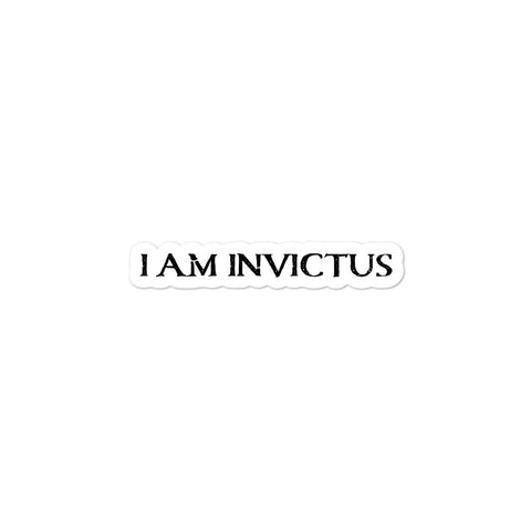 """I am Invictus"" Bubble-free stickers"