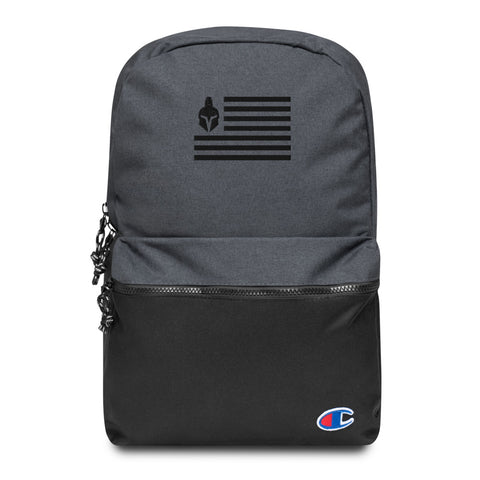 Invictus Flag Embroidered Champion Backpack