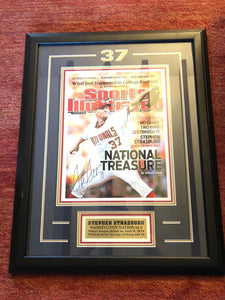 Framed Stephen Strasburg Signed Sports Illustrated Cover