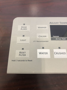 GE Refrigerator Dispenser User Control Display Board 200D7355G021 | A 168
