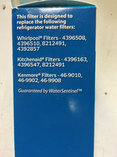 Load image into Gallery viewer, Water Sentinel Refrigerator Replacement Filter 4396508, 4396163, 46-9010 | ZG