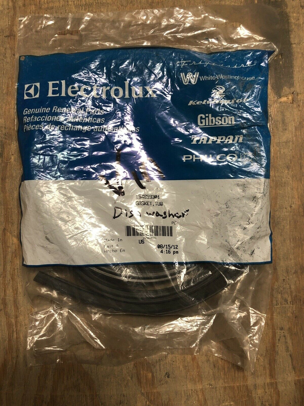 New Electrolux 154859301 GASKET | AS Box 103