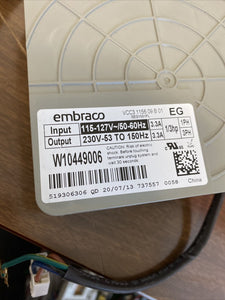Whirlpool Refrigerator Embraco Invertor Board W10449006 | ZG Box 171