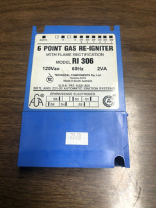 EGO Model RI 306 6 Point Gas Re-Igniter | AS Box 144
