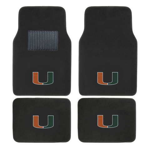 NCAA 2-PC EMBROIDERED LOGO CAR FLOOR MAT SET - EZPZShipper