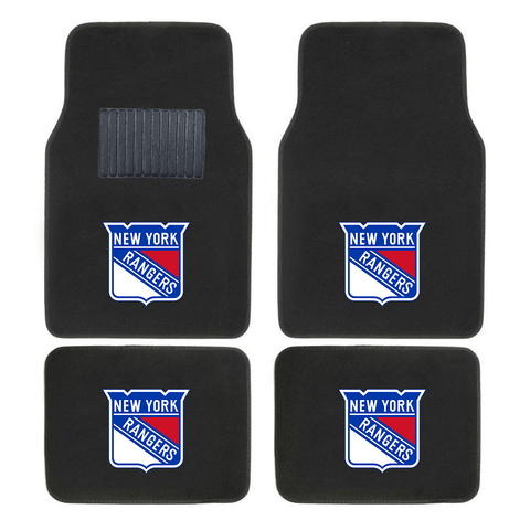 NHL 2-PC EMBROIDERED LOGO CAR FLOOR MAT SET - EZPZShipper