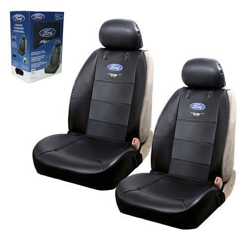 New Ford Mustang Synthetic Leather Sideless Car/Truck Front Seat Covers