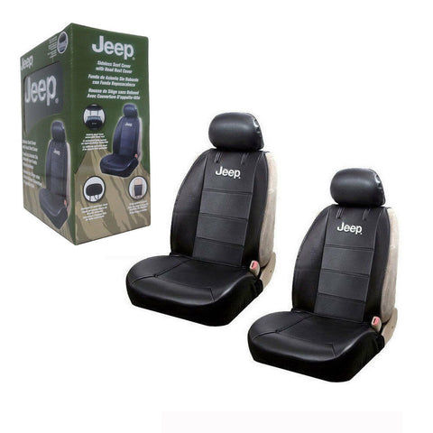 Jeep Elite Mopar Black Car/Truck Synthetic Leather Side less Seat Covers