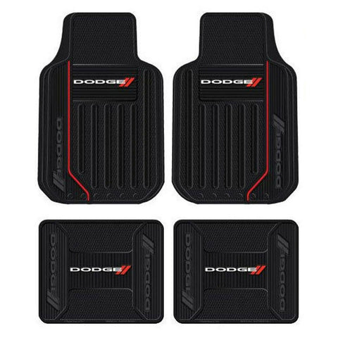 Dodge Elite Series Car Truck Front / Rear All Weather Rubber Floor Mats