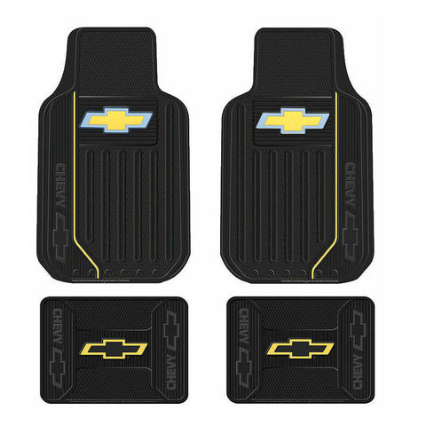 New Chevy Elite Series Logo Car Truck Front & Back Rubber Floor Mats