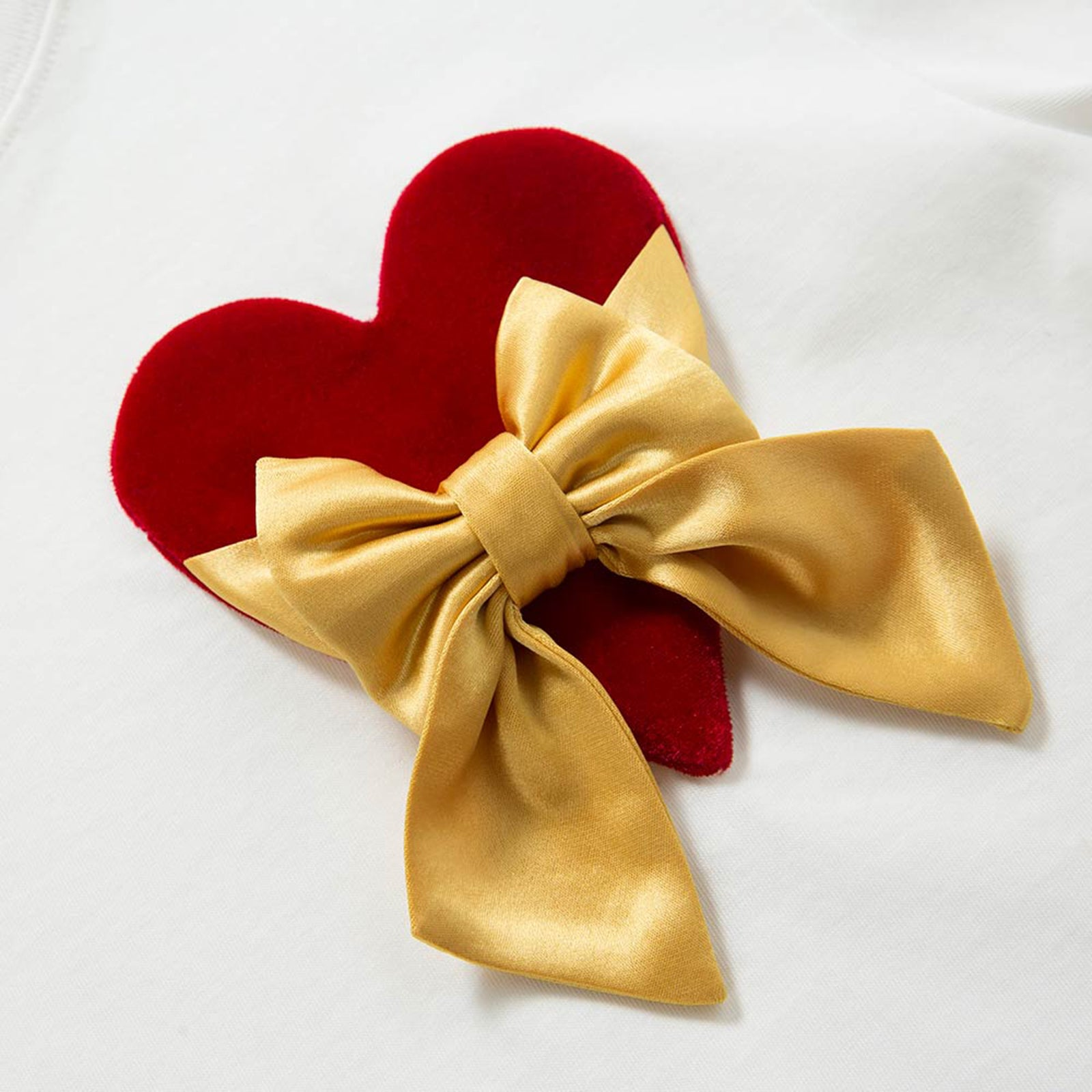 T-Shirt with Love Heart Motif