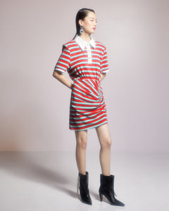 Striped Polo Shirt Dress