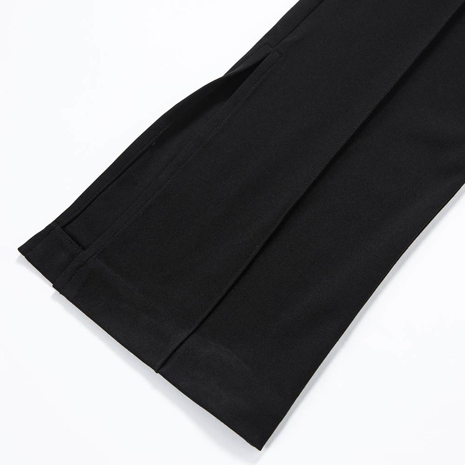 Black Flared Knitted Trousers