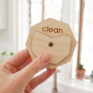 Acrylic Circle Clean Dirty Dishwasher Magnet Sign For Modern Kitchen