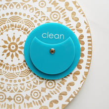 Load image into Gallery viewer, Turquoise Acrylic Circle Clean Dirty Dishwasher Magnet Sign For Modern Kitchen
