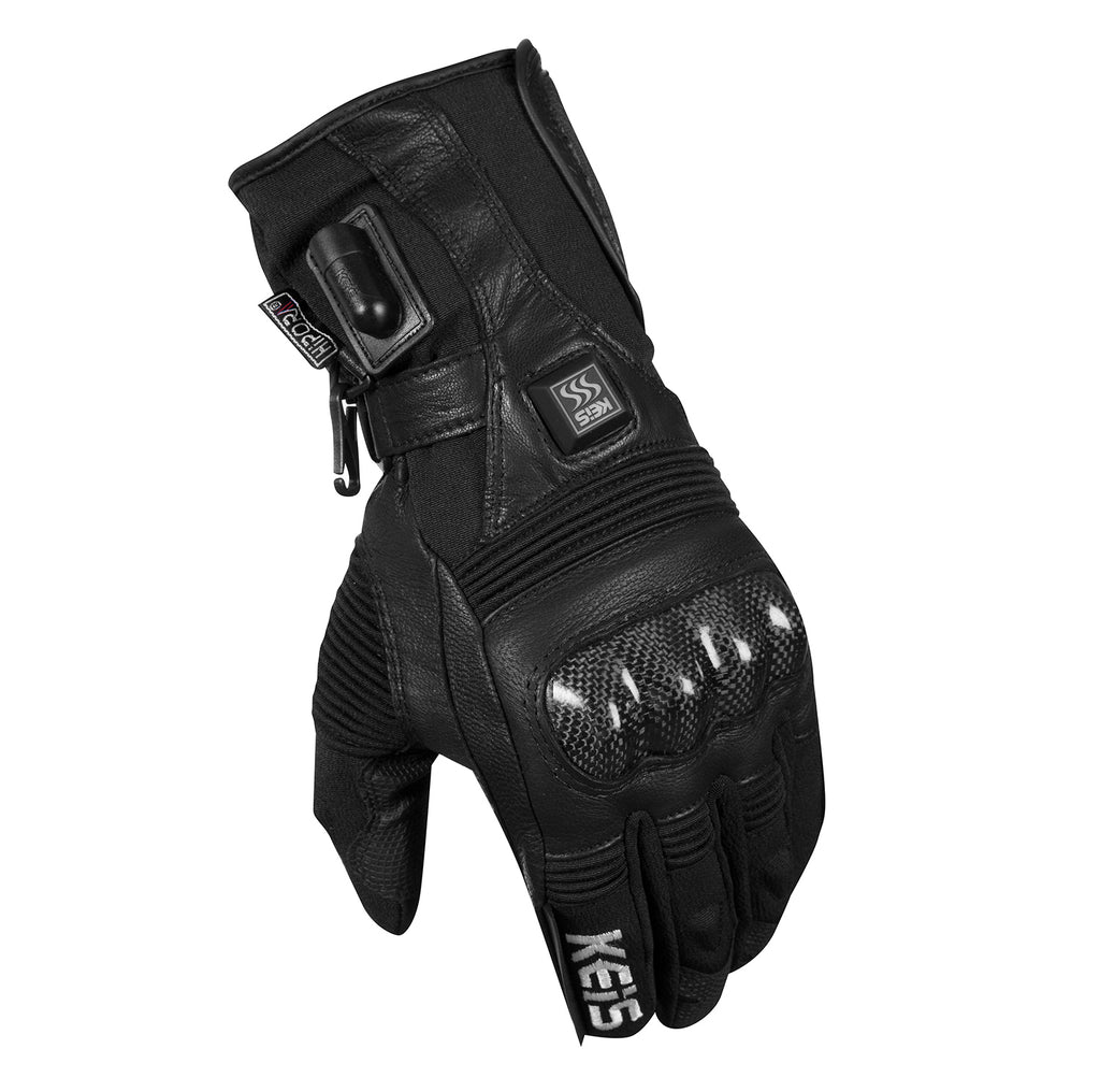 Keis heated motorcycle gloves G501 left