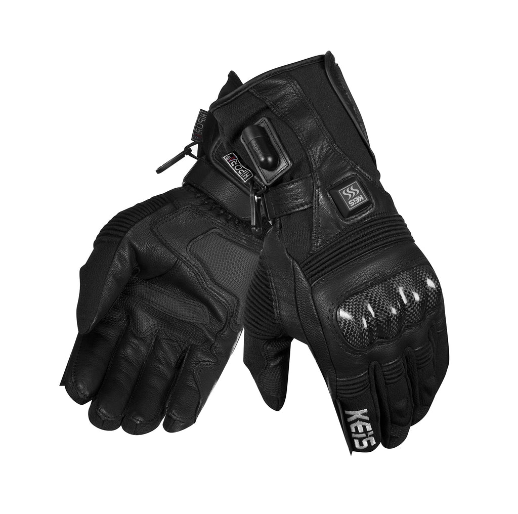 Keis heated motorcycle gloves G501 pair