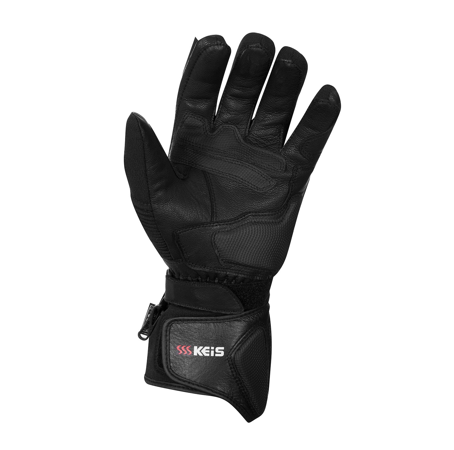 Keis heated motorcycle gloves G501 palm