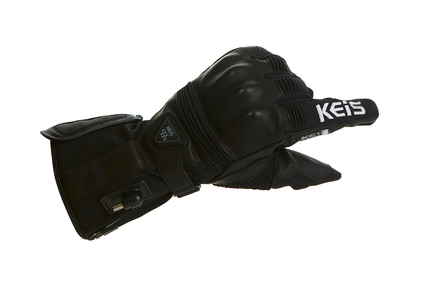 Visor wipe feature on these Heated Motorcycle Gloves