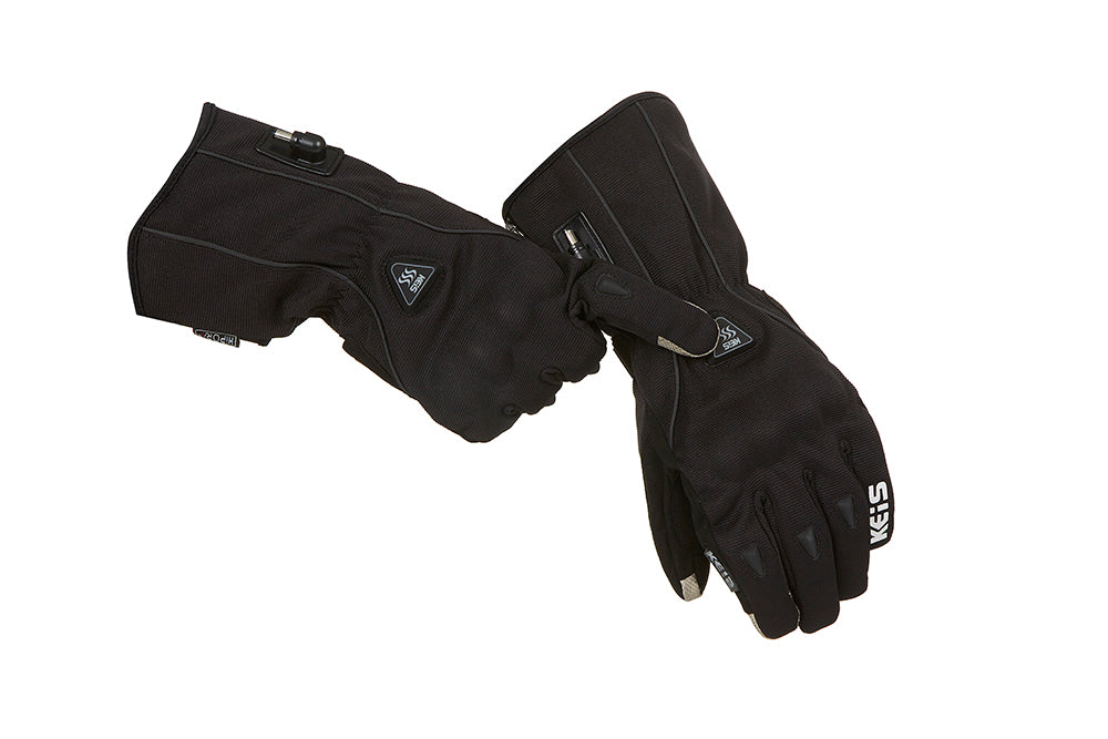 Keis heated G701 glove changing heat settings