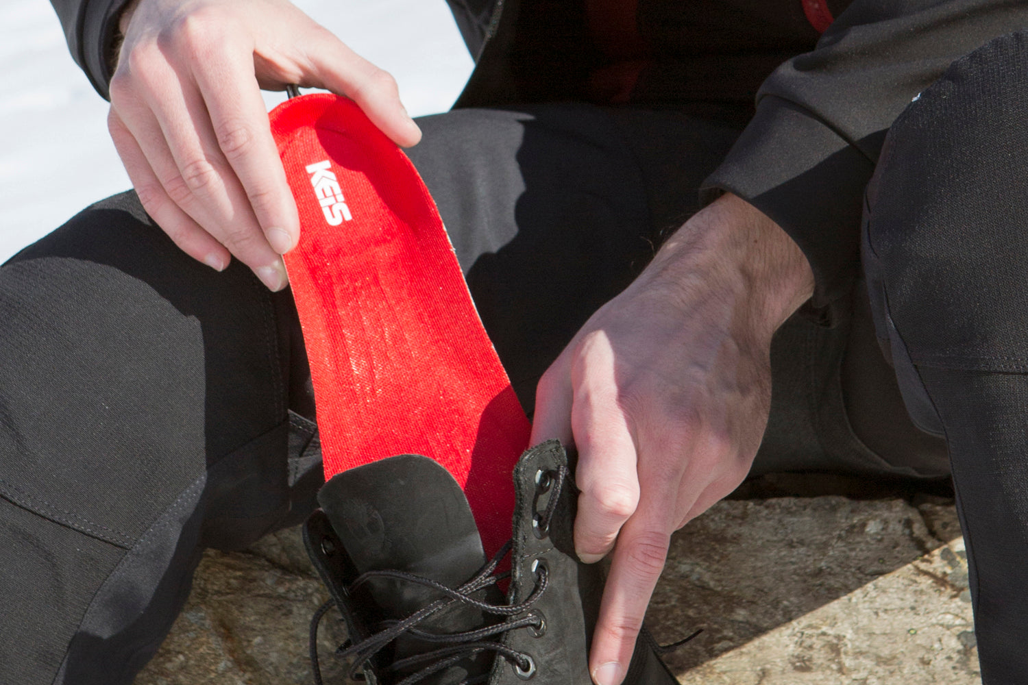 Heated Boot Insoles slide into each boot