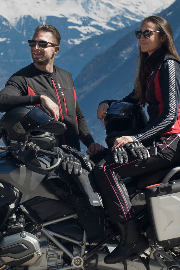 Keis motorcycle heated vest is unisex