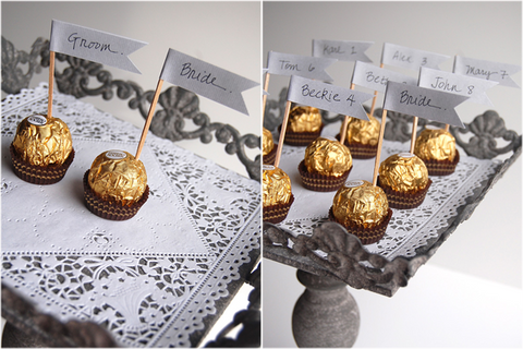 Ferrero Rocher Escort Cards