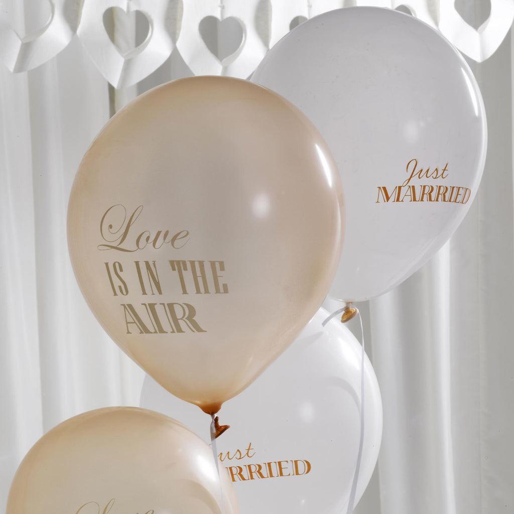 Balloons Ivory & Gold - Chic Boutique - Wedlock Shop