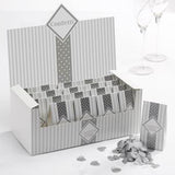 20 packs of Tissue Paper Confetti White & Silver- Chic Boutique - Wedlock Shop