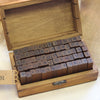 Vintage Wooden Rubber Stamp Set - 70 Pieces - Wedlock Shop - 1
