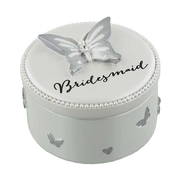 Butterfly Design Bridesmaid Trinket Box Gift - Wedlock Shop