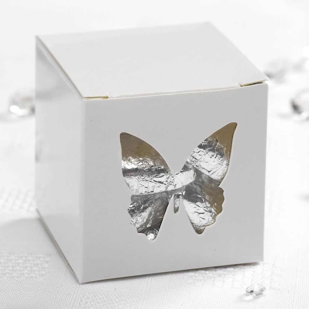 White Favour Boxes - Elegant Butterfly - Wedlock Shop