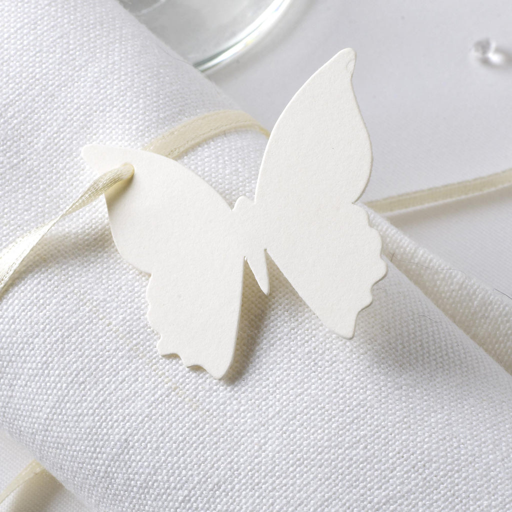 Ivory Butterfly Luggage Tags - Elegant Butterfly - Wedlock Shop