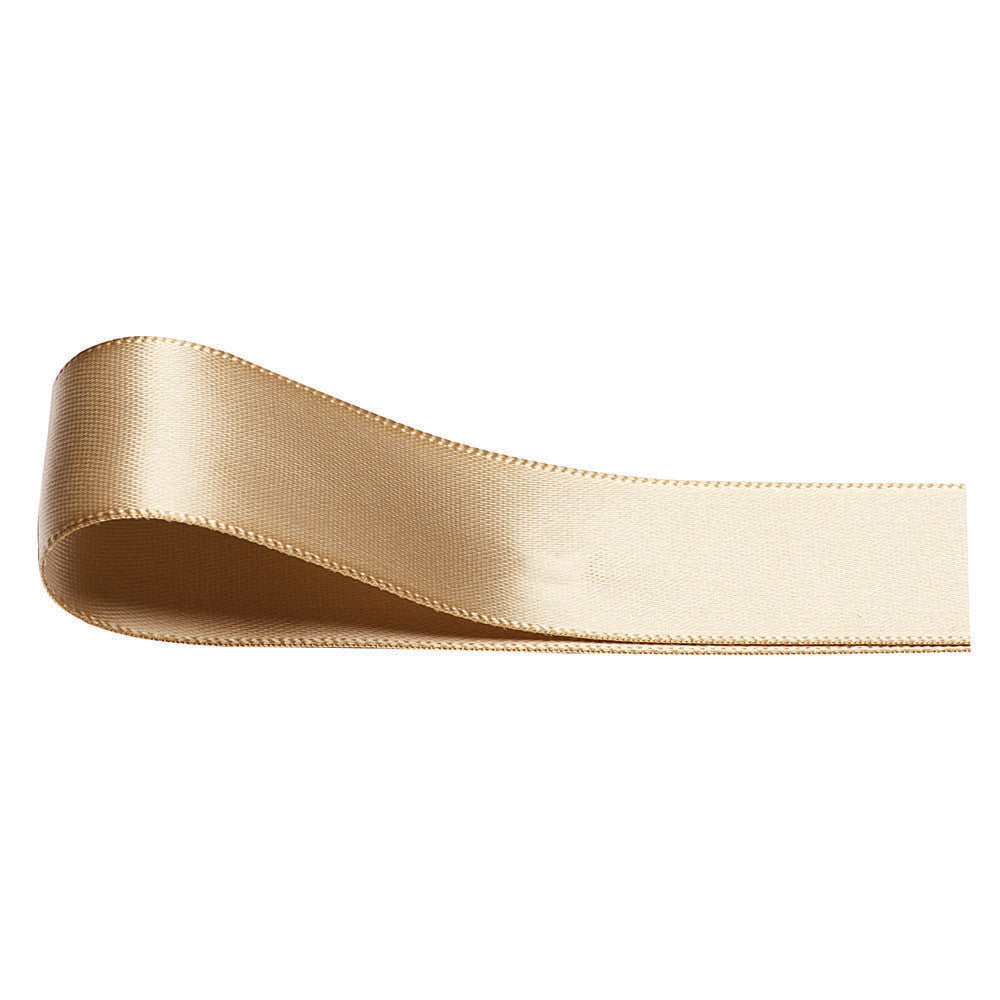 Double Sided Satin Ribbon - Light Gold - Wedlock Shop