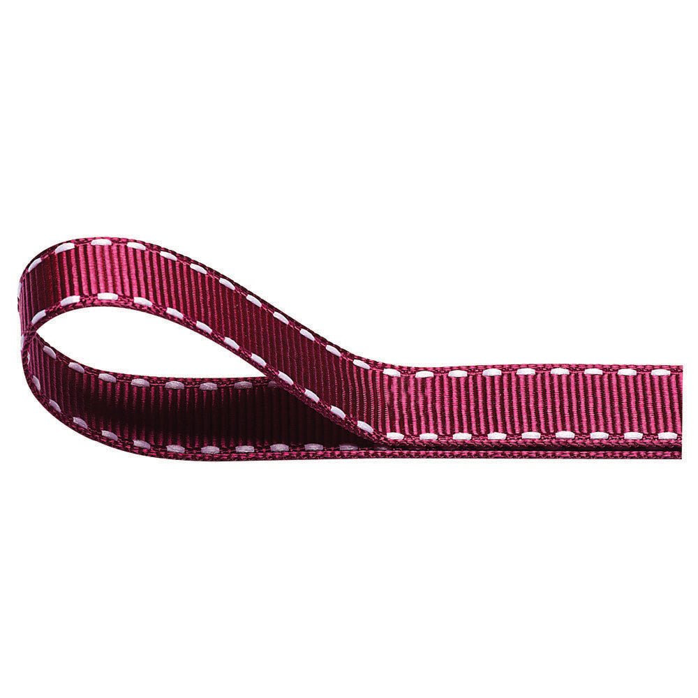 Stitched Grosgrain Ribbon - Burgundy - Wedlock Shop