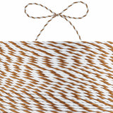 Stripy Brown/White Hessian String - Wedlock Shop