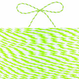 Stripy Green/White Hessian String - Wedlock Shop