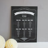 Chalkboard Style Rustic Wedding Table Seating Plan - Wedlock Shop - 1
